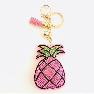 Pink Pineapple Keychain Purse Charm